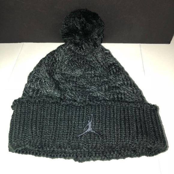 12ed1d221ce Jordan Accessories | Beanie Black And Grey | Poshmark